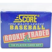 1992 Score Rookies & Traded Baseball Factory Set (Reed Buy)