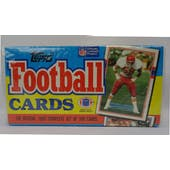 1989 Topps Football Factory Set (Christmas Box) (Reed Buy)