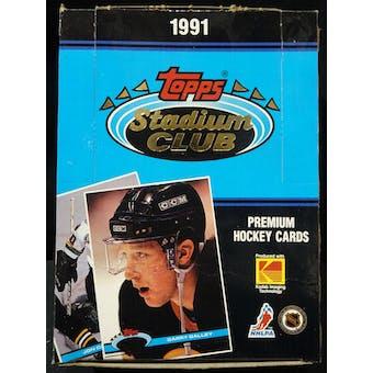 1991/92 Topps Stadium Club Hockey Hobby Box (Reed Buy)