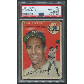 1954 Topps Baseball #17 Phil Rizzuto PSA Authentic (Altered)