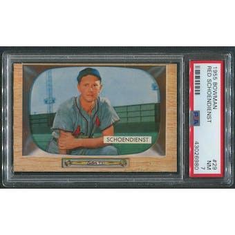 1955 Bowman Baseball #29 Red Schoendienst PSA 7 (NM)