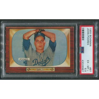 1955 Bowman Baseball #97 Johnny Podres PSA 6.5 (EX-MT+)