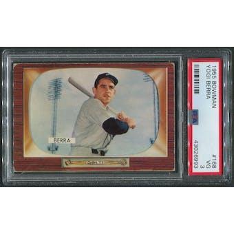 1955 Bowman Baseball #168 Yogi Berra PSA 3 (VG)
