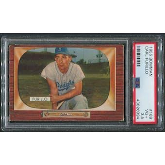 1955 Bowman Baseball #169 Carl Furillo PSA 3.5 (VG+)