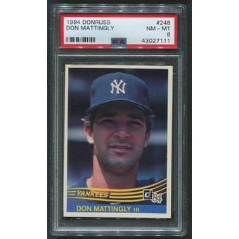 1984 Donruss Baseball #248 Don Mattingly Rookie PSA 8 (NM-MT)