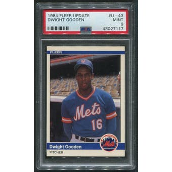 1984 Fleer Update Baseball #U-43 Dwight Gooden Rookie PSA 9 (NM-MT)