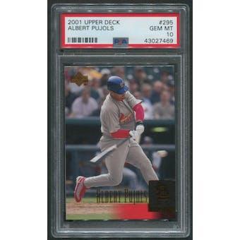 2001 Upper Deck Baseball #295 Albert Pujols Rookie PSA 10 (GEM MT)