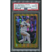 2011 Bowman Chrome Baseball #70 Anthony Rizzo Rookie Gold Refractor #17/50 PSA 10 (GEM MT)