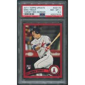 2011 Topps Update Baseball #US175 Mike Trout Target Red Border Rookie PSA 8.5 (NM-MT+)