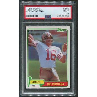 1981 Topps Football #216 Joe Montana Rookie PSA 9 (MINT)