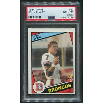 1984 Topps Football #63 John Elway Rookie PSA 8 (NM-MT) (OC)