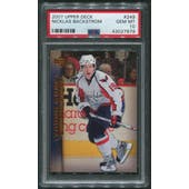 2007/08 Upper Deck Hockey #249 Nicklas Backstrom Young Guns Rookie PSA 10 (GEM MT)