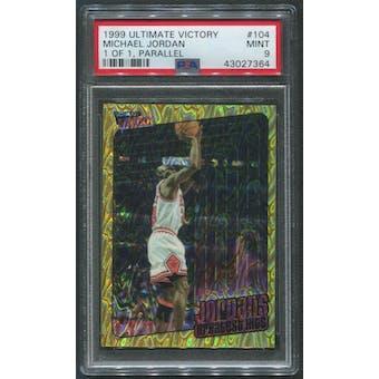 1999/00 Ultimate Victory #104 Michael Jordan Greatest Hits Gold #1/1 PSA 9 (MINT)