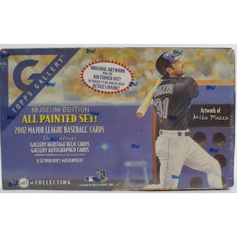 2002 Topps Gallery Museum Edition Baseball Hobby Box (Reed Buy)