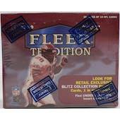 1999 Fleer Tradition Football Retail Box (Reed Buy)