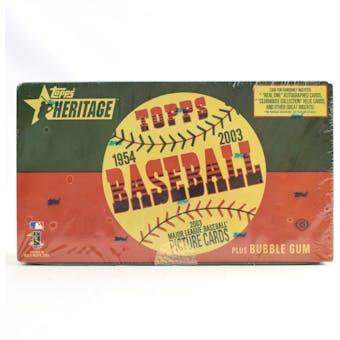 2003 Topps Heritage Baseball Hobby Box (Reed Buy)