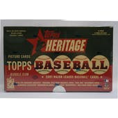 2001 Topps Heritage Baseball Hobby Box (Reed Buy)