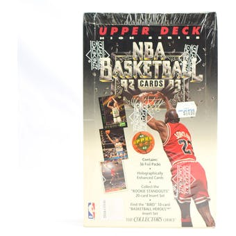 1992/93 Upper Deck High Number Basketball Retail Box (Reed Buy)