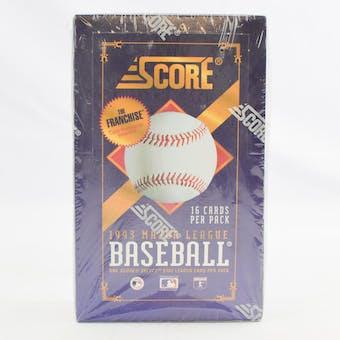 1993 Score Baseball Hobby Box (Reed Buy)