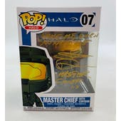 "Halo Master Chief Funko POP Autographed by Steve Downes ""Wake Me, When You Need Me"""