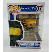 "Halo Master Chief Funko POP Autographed by Steve Downes ""I Need A Weapon"""