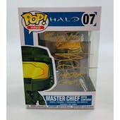 "Halo Master Chief Funko POP Autographed by Steve Downes ""Finish The Fight"""