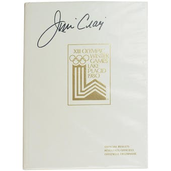 Jim Craig Autographed Miracle On Ice 1980 Lake Placid Olympics Official Results Book (White)