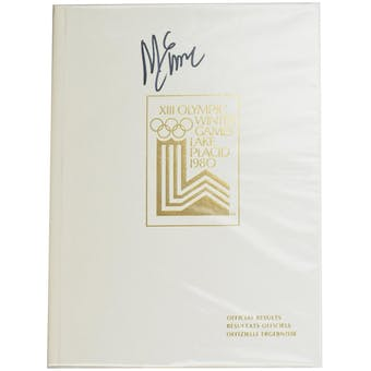 Mike Eruzione Autographed Miracle On Ice 1980 Lake Placid Olympics Official Results Book (White)