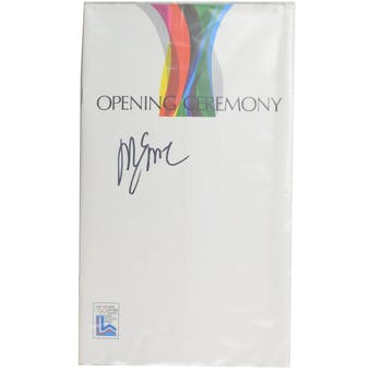 Mike Eruzione Autographed Miracle On Ice 1980 Lake Placid Olympics Opening Ceremony Program