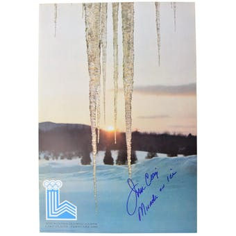 Jim Craig Autographed Miracle On Ice 1980 Lake Placid Olympics Icicle Poster (w/ Miracle On Ice)