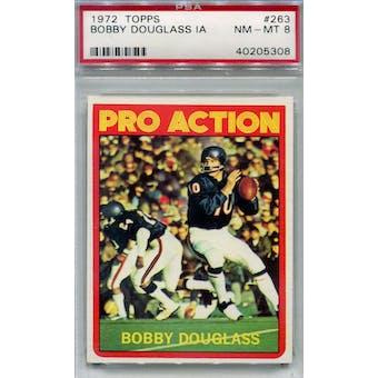 1972 Topps Football #263 Bobby Douglass IA PSA 8 (NM-MT) *5308 (Reed Buy)