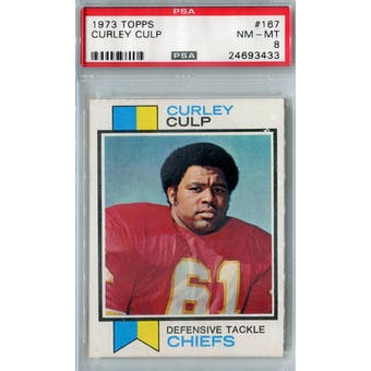 1973 Topps Football #167 Curley Culp RC PSA 8 (NM-MT) *3433 (Reed Buy)