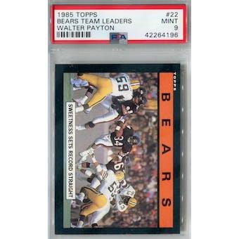 1985 Topps Football #22 Bears Team Leaders PSA 9 (Mint) *4196 (Reed Buy)