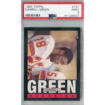 1985 Topps Football #181 Darrell Green PSA 9 (Mint) *5507 (Reed Buy)