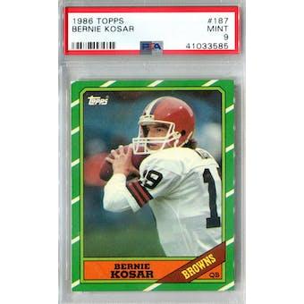 1986 Topps Football #187 Bernie Kosar RC PSA 9 (Mint) *3585 (Reed Buy)