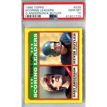 1986 Topps Football #228 NFL Scoring Leaders PSA 10 (Gem Mint) *1779 (Reed Buy)