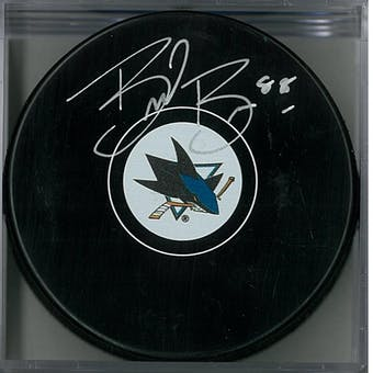 Brent Burns Autographed San Jose Sharks Puck Small Logo (AJSW COA)