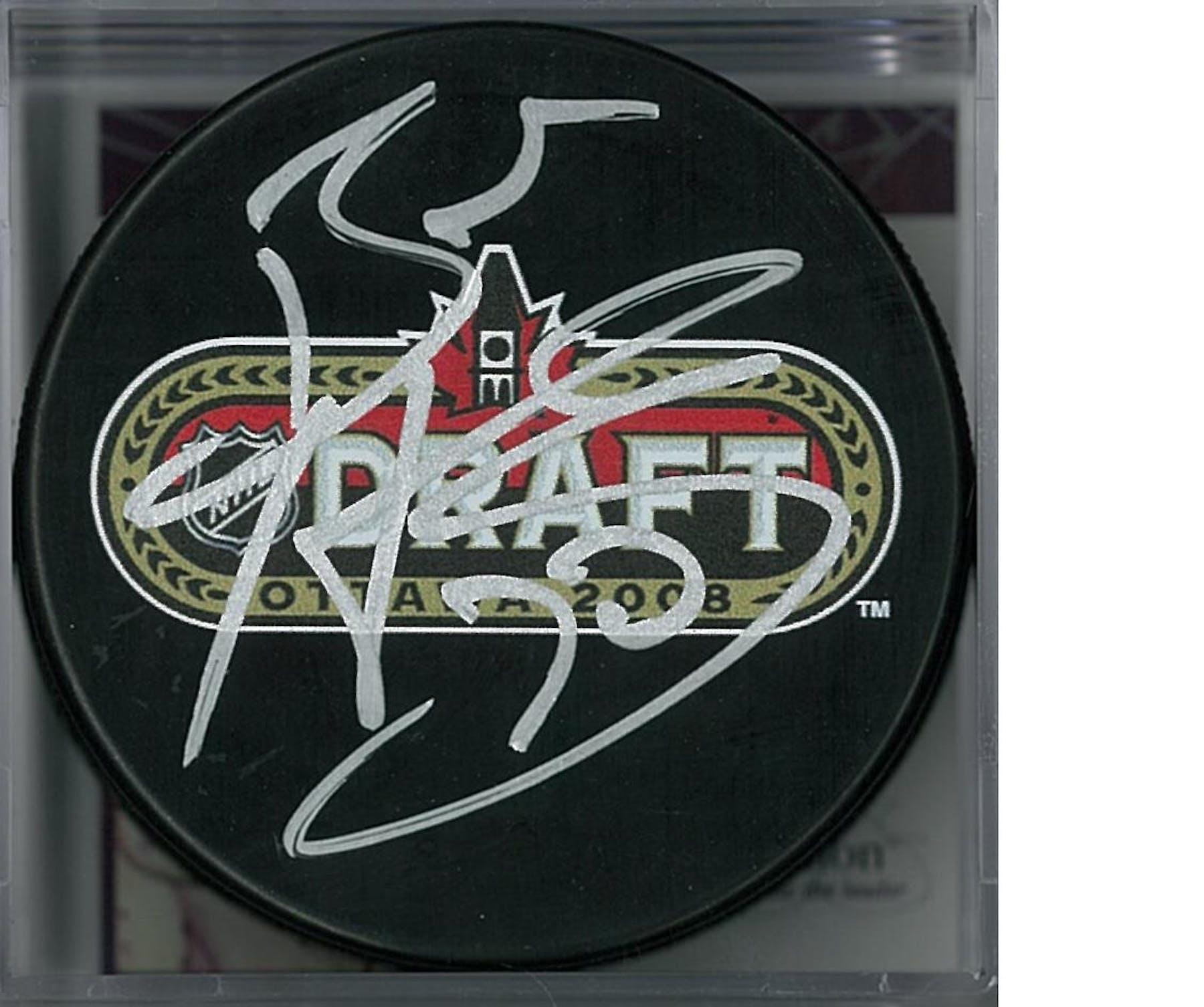 newest 7cc70 f5469 Braden Holtby Autographed 2008 NHL Draft Hockey Puck (JSA COA)