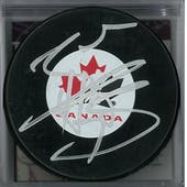 Braden Holtby Autographed Canada Hockey Puck (JSA COA)