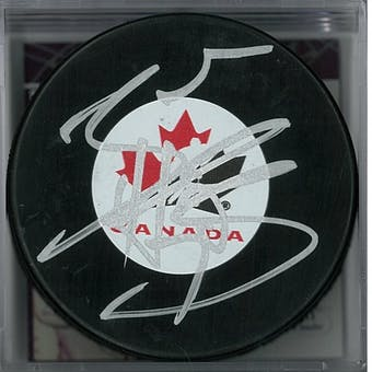 online store 57edc c08ad Braden Holtby Autographed Canada Hockey Puck (JSA COA)