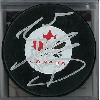 Braden Holtby Autographed Canada Hockey Puck (JSA COA)