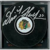 Dominik Hasek Autographed Chicago Black Hawks Hockey Puck  (DACW COA)