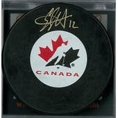 Eric Staal Autographed Canada Hockey Puck (DACW COA)