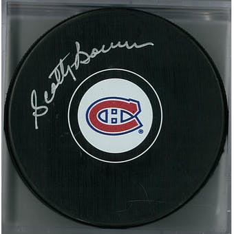 Scotty Bowman Autographed Montreal Canadians Hockey Puck (Frozen Pond COA)
