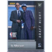 2019 Panini National Convention Instant Basketball Draft Night #DN-JM Ja Morant 22/25