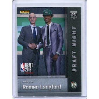 2019 Panini National Convention Instant Basketball Draft Night #DN-RL Romeo Langford /25