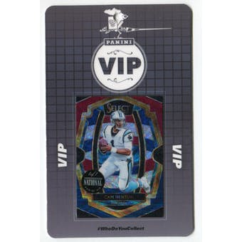 2019 Panini National VIP Party Event Badge Cam Newton 1/1 Select