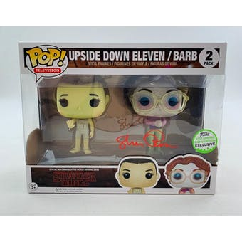 Stranger Things Upside Down Eleven & Barb Exclusive Funko POP Autographed by Shannon Purser