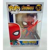 Marvel Avengers Infinity War Iron Spider-Man Funko POP Autographed by Tom Holland