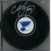 Chris Pronger Autographed St Louis Blues Hockey Puck (AJSW COA)